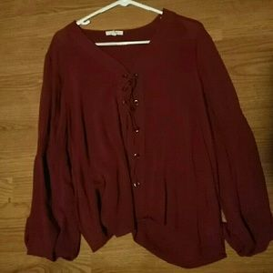 Red Maurices bell sleeve